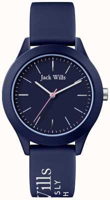 Jack Wills | Frauengewerkschaft | Marinezifferblatt | marineblaues Silikonarmband | JW009NVBL