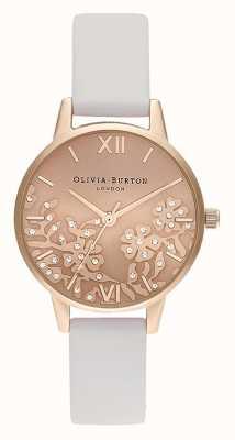 Olivia Burton | Frauen | Bejeweled Spitze | steinrotes Lederband | OB16MV102