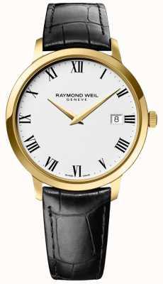 Raymond Weil | herren toccata | Goldgehäuse | schwarzes Lederband | 5588-PC-00300