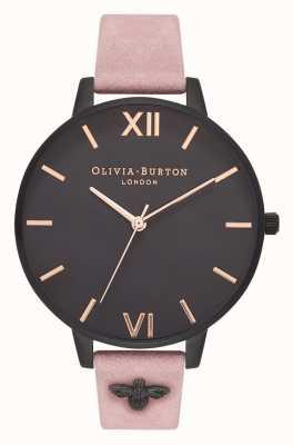 Olivia Burton | Frauen | 3d biene | verziertes Armband aus rosafarbenem Wildleder | OB16ES09