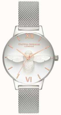 Olivia Burton | Frauen | 3d biene | Edelstahlgewebe Armband | OB16AM146