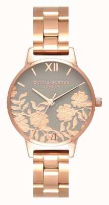 Olivia Burton | Frauen | Spitzendetail Zifferblatt | Roségold-Armband | OB16MV88