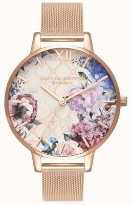 Olivia Burton | Frauen | Glashaus | Roségold-Mesh-Armband | OB16EG86