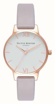 Olivia Burton | Frauen | grau lila Armband | weißes Zifferblatt | OB16MDW32