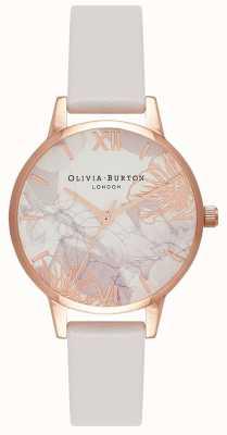 Olivia Burton | Frauen | abstrakte Blumen erröten Lederband | OB16VM12
