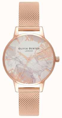 Olivia Burton   Frauen   abstrakte Blumen   roségoldes Netzarmband   OB16VM11