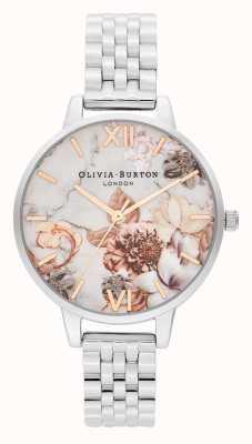 Olivia Burton | Frauen | Marmor Blumen | Edelstahlarmband | OB16CS31