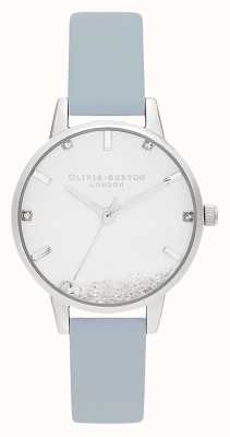 Olivia Burton | Frauen | die Wunschuhr | veganes kreideblaues Armband | OB16SG07