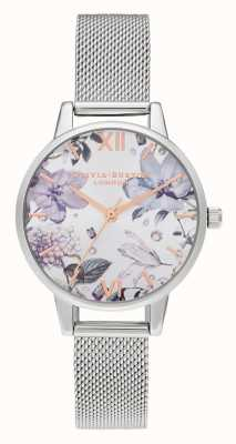 Olivia Burton | Frauen | bejeweled florals | midi silber mesh armband | OB16BF26