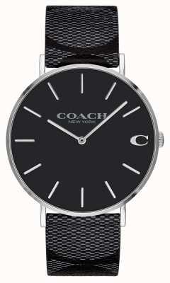 Coach | herren | Unterschrift charles | schwarzes Leder | 14602157