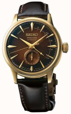 Seiko Presage Automatic Limited Edition 'Cocktail Time' aus braunem Leder SSA392J1