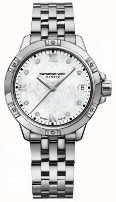 Raymond Weil | Frauen Tango | diamantbesetztes zifferblatt | Edelstahlarmband 5960-ST-00995