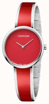 Calvin Klein | Frauen verführen edelstahl rotes harz armband | K4E2N11P