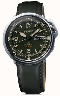 Seiko | prospex | Herren | im Freien | grünes Leder | SRPD33K1