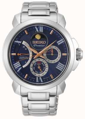 Seiko | erstklassiger kinetischer direktantrieb | herren | blauer Kalender | SRX017P1