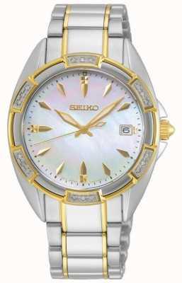 Seiko | konzeptionelle serie | Frauen | zweifarbiges goldenes Armband | SKK880P1