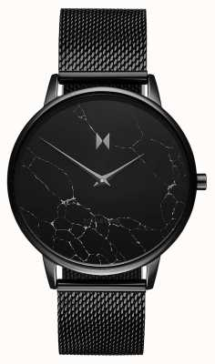 MVMT Boulevard Melrose Marmor | schwarzes pvd mesh armband D-MB01-BLMA