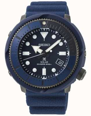 Seiko   prospex   Straßenserie   marineblaues Silikon   Taucher   SNE533P1