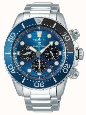 Seiko | Prospex Taucher | rette den Ozean | blaues Chronographenzifferblatt | SSC741P1