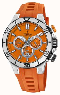 Festina Britannien tour 2019 | orange Silikonarmband | oranges Zifferblatt | F20449/C