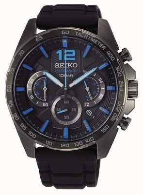 Seiko   neo sports   herren   schwarzer chronograph   schwarzes Armband   SSB353P1