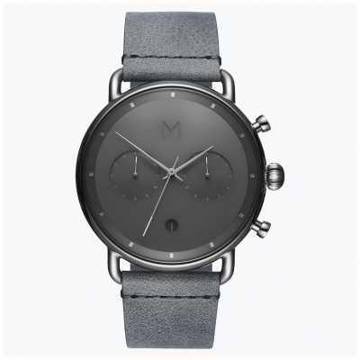 MVMT Asphalt Silbernebel | graues Lederband | graues Zifferblatt D-BT01-SGR