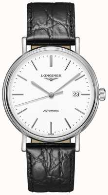 Longines Anwesenheit | Schweizer Automatik | schwarzes Lederband L49224122