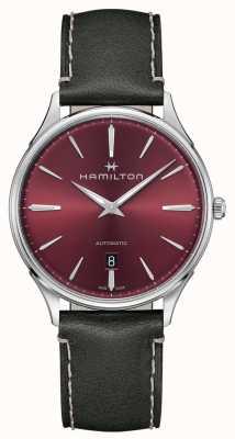 Hamilton Jazzmaster Thinline | automatisch | rotes Zifferblatt | grauer Riemen H38525771