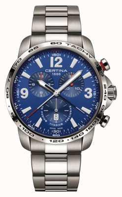 Certina | ds podium | blaues Chronographenzifferblatt | Titan Armband | C0016474404700