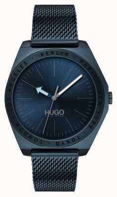 HUGO #act | blaues IP-Netz | blaues Zifferblatt 1530109