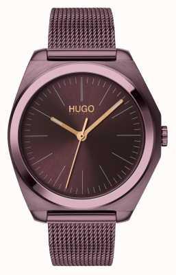 HUGO #imagine | aubergine ip mesh | aubergine zifferblatt 1540027