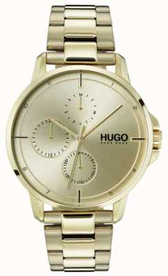 HUGO #focus | gold ip armband | goldenes Zifferblatt 1530026
