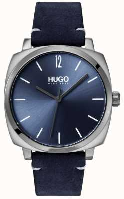 HUGO #own | blaues Lederband | blaues Zifferblatt 1530069