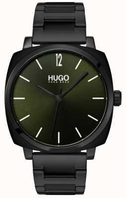HUGO #own | schwarzes ip armband | schwarzes Zifferblatt 1530081