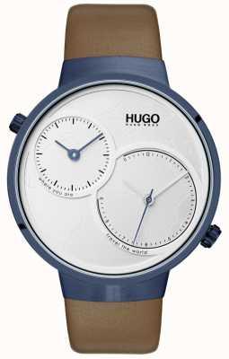 HUGO #travel | braunes Lederband | weißes Zifferblatt 1530054