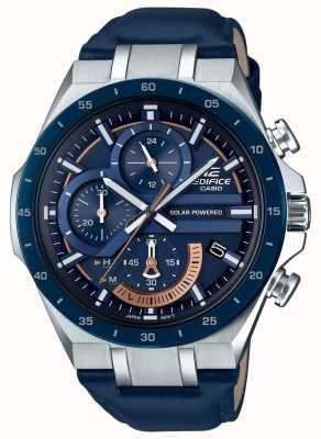 Casio | Gebäude Chronograph | solarbetrieben | blaues Lederband | EQS-920BL-2AVUEF