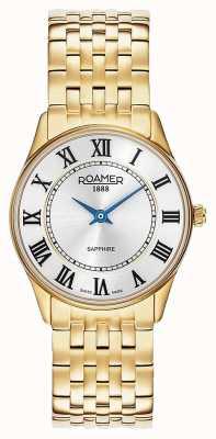 Roamer | Frauen | Sonate | vergoldeter Stahl | weißes Zifferblatt | 520820-48-15-50