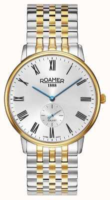 Roamer | Männergalaxie | zweifarbiger Edelstahl | weißes Zifferblatt | 620710-47-15-50