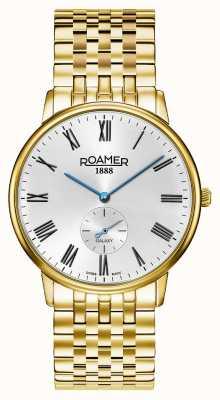 Roamer | Männergalaxie | vergoldeter edelstahl | weißes Zifferblatt | 620710-48-15-50