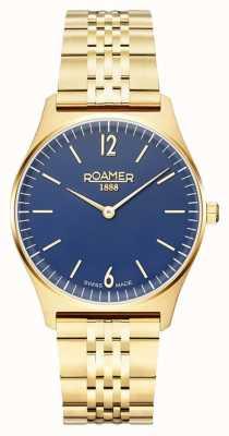Roamer | Frauenelemente | vergoldeter edelstahl | blaues Zifferblatt 650815-48-45-50