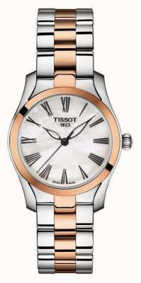 Tissot | t-wave | zweifarbiges Damenarmband | Perlmutt Zifferblatt | T1122102211301