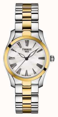 Tissot | t-wave | zweifarbiges Damenarmband | Perlmutt Zifferblatt | T1122102211300