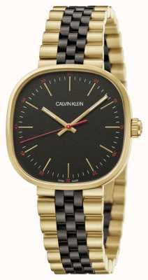 Calvin Klein | Männer | genau zweifarbiges Armband | schwarzes Zifferblatt | K9Q125Z1