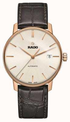 Rado | coupole classic automatic | braunes Leder | Sonnenstrahl Zifferblatt | R22861115