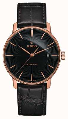Rado | coupole classic automatic | braunes Leder | schwarzes Zifferblatt | R22861165