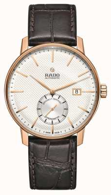 Rado | coupole classic automatic | braunes Leder | weißes Zifferblatt | R22881025