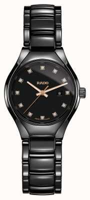 Rado Echte Diamanten Plasma High-Tech Keramik schwarz Zifferblatt Uhr R27059732