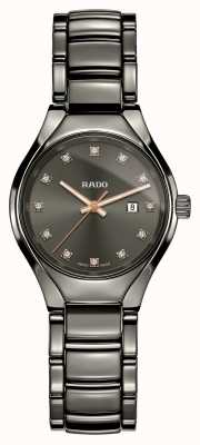 Rado Echte Diamanten Plasma High-Tech Keramik graues Zifferblatt zu sehen R27060732