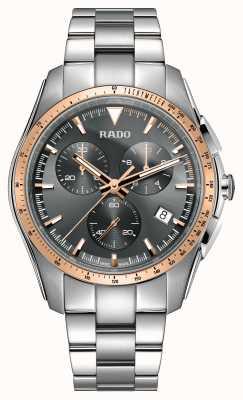 Rado | xxl hyperchrom chronograph | Edelstahl | graues Zifferblatt | R32259163