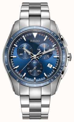 Rado | xxl hyperchrom chronograph | Edelstahl | blaues Zifferblatt | R32259203